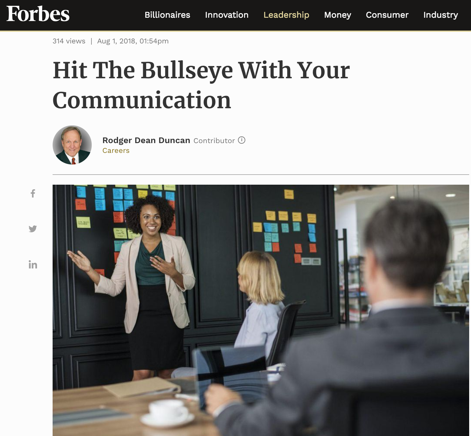 Forbes Bullseye Principle Communication