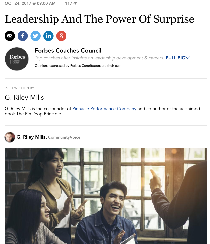 Forbes Coaches Council Publicity