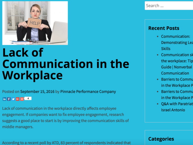 articles on communication in the workplace