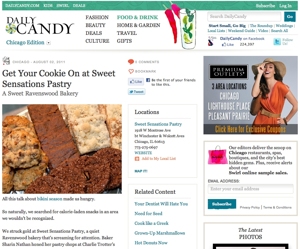 Sweet Sensations Pastry - DailyCandy Chicago