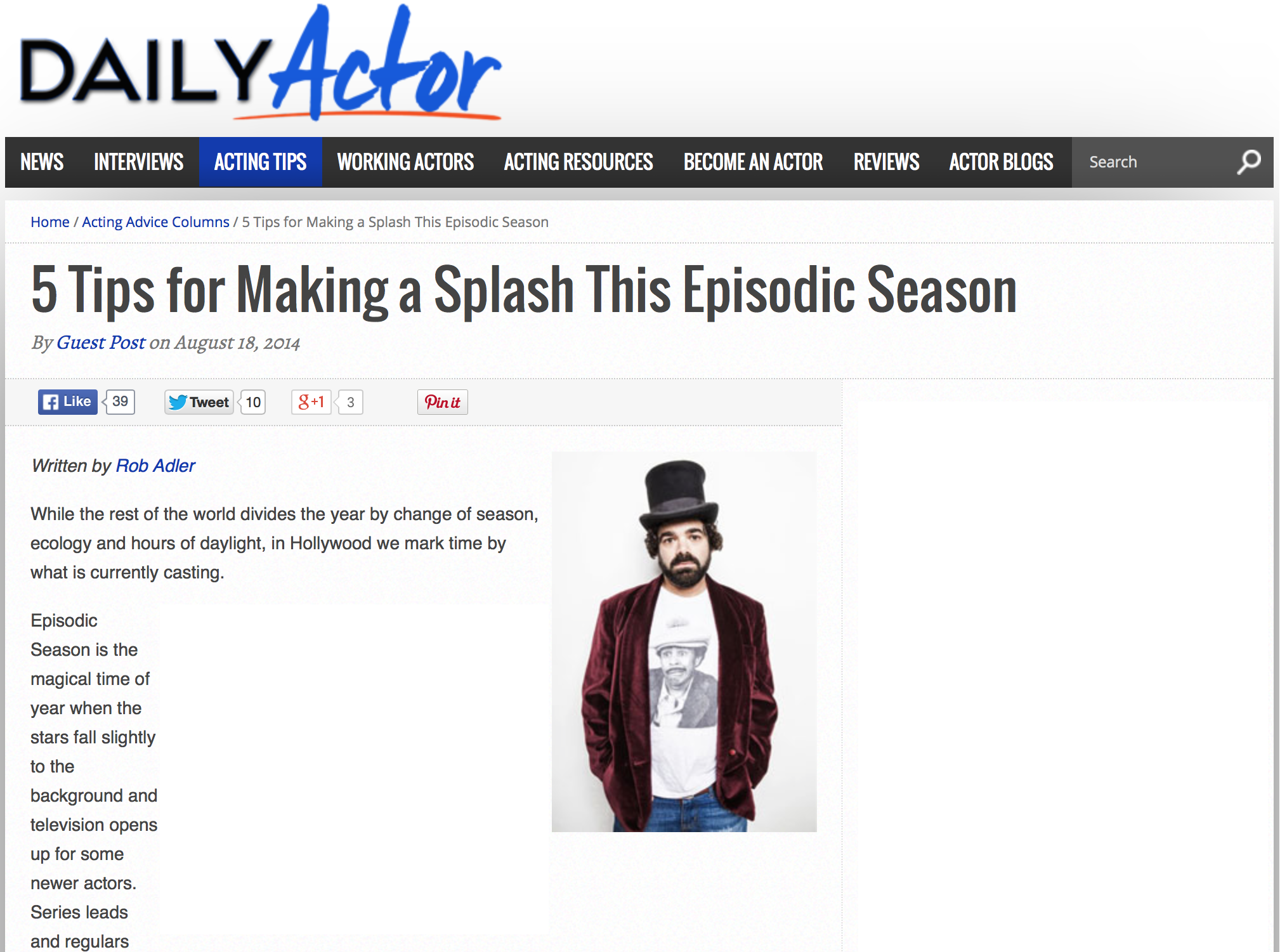 Acting Episodic Season
