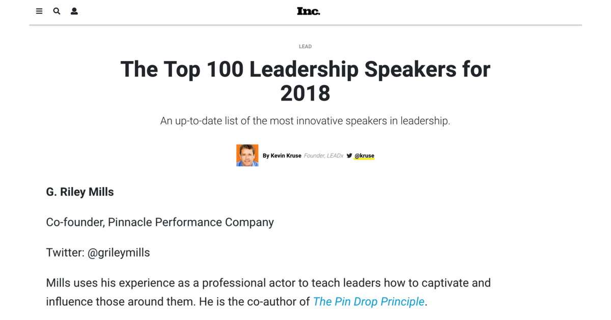 Top 100 Leadership Speakers